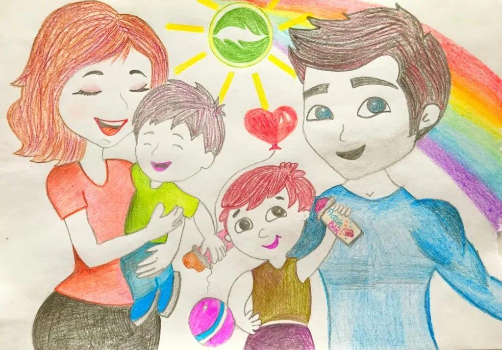 «Моя любимая семья» конкурс детского рисунка