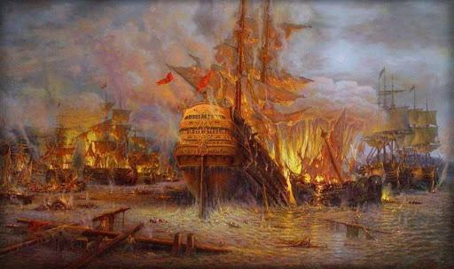 7 июля 1770 года — Победа в Чесменском сражении